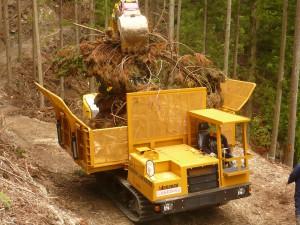 Biomass forwarder